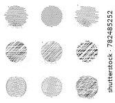 set of vector elements. circles.... | Shutterstock .eps vector #782485252