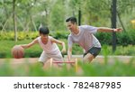 asian father   son playing... | Shutterstock . vector #782487985
