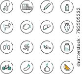 line vector icon set  ... | Shutterstock .eps vector #782505232