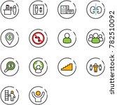 line vector icon set   passport ...   Shutterstock .eps vector #782510092