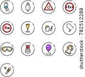line vector icon set   drop... | Shutterstock .eps vector #782512288