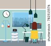 doctor sitting working in desk... | Shutterstock .eps vector #782515576