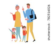 family of four people are... | Shutterstock .eps vector #782516026