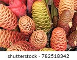 bouquet of beehive ginger... | Shutterstock . vector #782518342