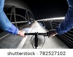 first person view of cyclist in ... | Shutterstock . vector #782527102