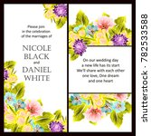 invitation with floral... | Shutterstock .eps vector #782533588