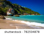 shipwrecks lay in ruins on the...   Shutterstock . vector #782534878