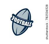 american football logo template.... | Shutterstock .eps vector #782536528