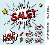 sale sign. signs for sales in a ... | Shutterstock .eps vector #78255061