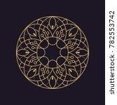 mandala texture flower... | Shutterstock .eps vector #782553742