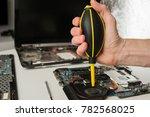 closeup shot of male hands... | Shutterstock . vector #782568025