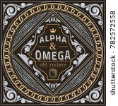 vintage decorative ornate label ... | Shutterstock .eps vector #782572558