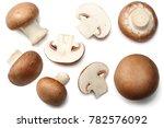 fresh champignon mushrooms...   Shutterstock . vector #782576092