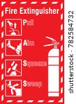 how to use a fire extinguisher... | Shutterstock .eps vector #782584732