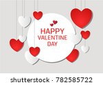 vector love of valentine day | Shutterstock .eps vector #782585722