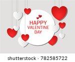 vector love of valentine day | Shutterstock .eps vector #782585722