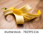 skin from a banana lies on a...   Shutterstock . vector #782591116