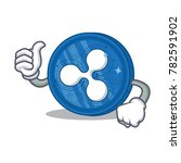 thumbs up ripple coin character ... | Shutterstock .eps vector #782591902