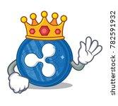 king ripple coin character... | Shutterstock .eps vector #782591932