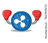 boxing ripple coin character... | Shutterstock .eps vector #782593072