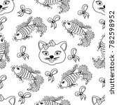 kids  cartoon seamless pattern. ... | Shutterstock .eps vector #782598952