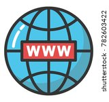 a network globe with www sign ... | Shutterstock .eps vector #782603422