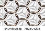 3d wall white tiles with red... | Shutterstock . vector #782604235