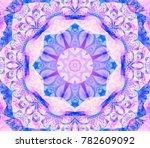 kaleidoscope violet flower.... | Shutterstock . vector #782609092