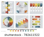 collection of 6 design colorful ... | Shutterstock .eps vector #782611522