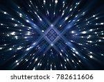 abstract blue fractal... | Shutterstock . vector #782611606