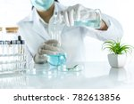 beauty background  scientist is ... | Shutterstock . vector #782613856