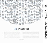 oil industry concept with thin... | Shutterstock .eps vector #782615245