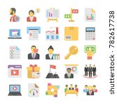 business flat colored icons 5 | Shutterstock .eps vector #782617738