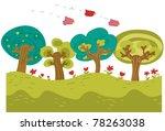 countryside cartoon scene | Shutterstock .eps vector #78263038