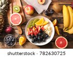 bowl of fruits | Shutterstock . vector #782630725