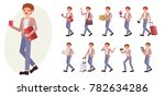 cartoon character design male... | Shutterstock .eps vector #782634286