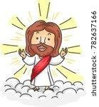 illustration of jesus christ... | Shutterstock .eps vector #782637166