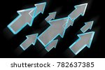 digital modern blue arrow on...   Shutterstock . vector #782637385