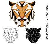 tiger polygon colored... | Shutterstock .eps vector #782643052