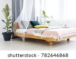 blanket  yellow cushion and... | Shutterstock . vector #782646868