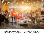 big data connections. iot  ... | Shutterstock . vector #782647822