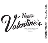 happy valentine's day text | Shutterstock .eps vector #782652436