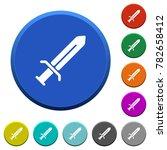 sword round color beveled... | Shutterstock .eps vector #782658412