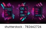 futuristic frame art design... | Shutterstock .eps vector #782662726