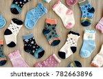 socks for children. view from... | Shutterstock . vector #782663896