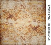 old metal plate with rust spots | Shutterstock . vector #782666626