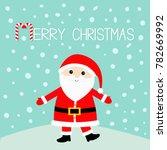 santa claus wearing red hat ... | Shutterstock . vector #782669992