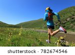 young fitness woman trail... | Shutterstock . vector #782674546