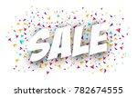sale banner template design.... | Shutterstock .eps vector #782674555