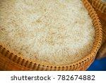 thai jasmine rice in a... | Shutterstock . vector #782674882
